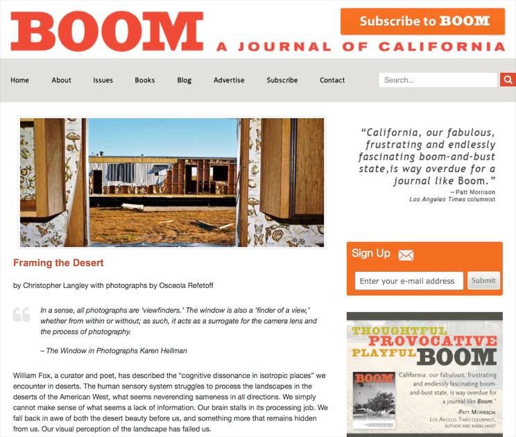 Boom: a Journal of California - Framing the Desert - Summer 2015