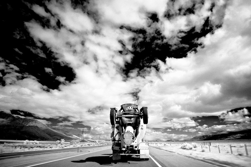 Cement Truck on Highway 395 South of Bishop, California – 2016
