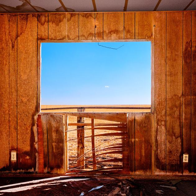 Window with Wire & Tiny Cloud – Cinco, California – 2009
