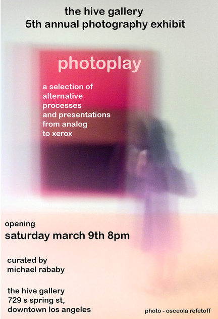 """The Hive Gallery – """"Photoplay"""" curated by Michael Rababy – March-April 2019"""