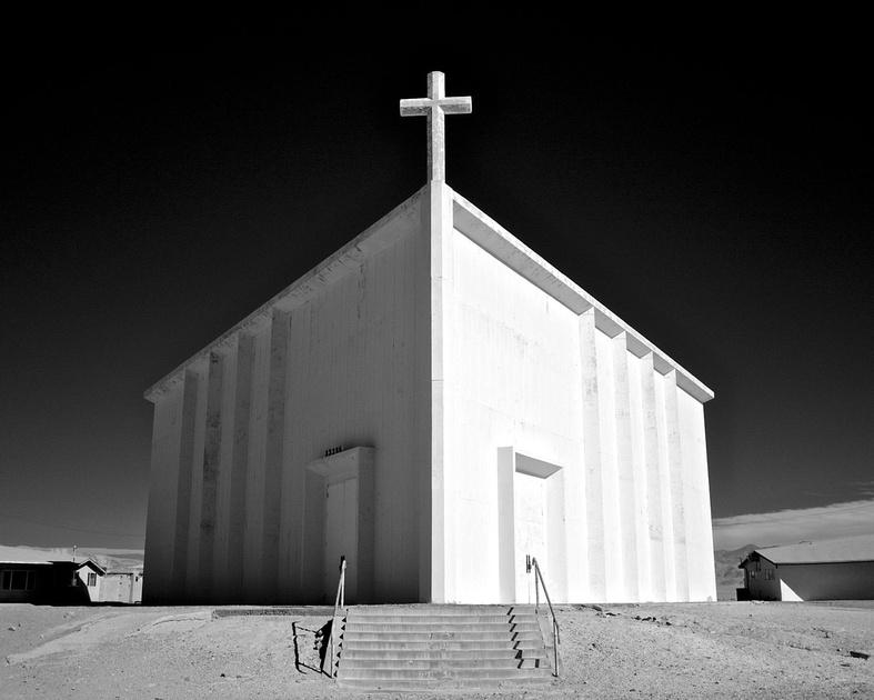 St. Madeleine Catholic Church - Infrared Exposure - Trona, California - 2010
