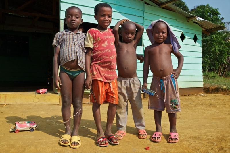 Four Boys and their Handmade Cars – Moka, Equatorial Guinea – 2011