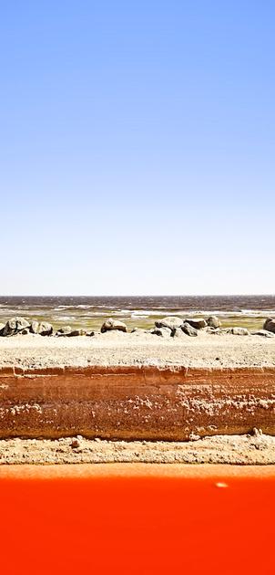 Sky, Whitecaps, Earth, Halobacteria - Bombay Beach (Salton Sea), CA - 2014