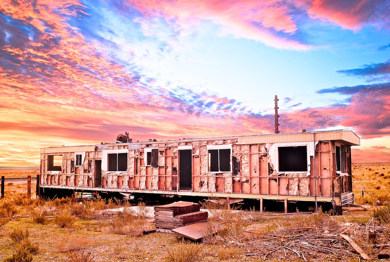 Lone Trailer Home - Sunrise - Cinco, CA - 2010