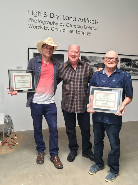 """High & Dry: Land Artifacts"" Osceola Refetoff, Bob Semerau (Executive Director, Outdoor Writers Association of California) & Christopher Langley - Museum of Art & History (MOAH) - Lancaster, CA - 2018"