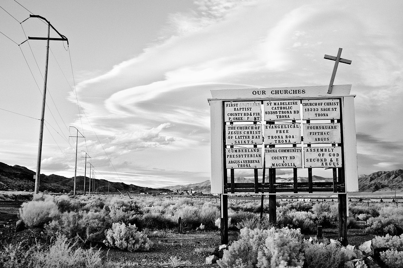 Our Churches (Sierra Wave) - Infrared Exposure - Trona, CA - 2011