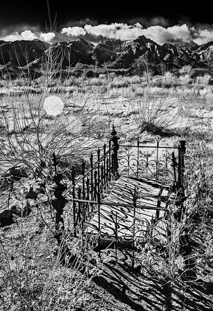 Rafael Diaz Grave - Pioneer Cemetery - Infrared Exposure - Lone Pine, CA - 2013